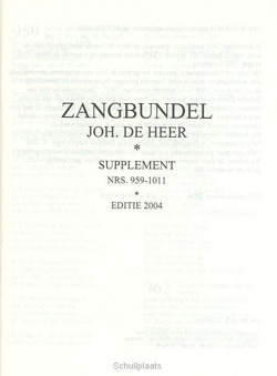 ZANGBUNDEL TEKSTAANVULLING - HEER - 101866