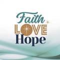 WENSKAART KERST FAITH LOVE HOPE MET ENV - 454096