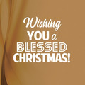WENSKAART KERST WISHING YOU A BLESSED - 454097