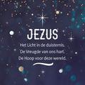 WENSKAART KERST JEZUS HET LICHT IN DE DU - 454102