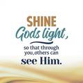 WENSKAART KERST SHINE GODS LIGHT SO THAT - 454105