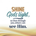WENSKAART KERST SHINE GODS LIGHT SO THAT - 454105