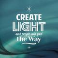 WENSKAART KERST CREATE LIGHT AND PEOPLE - 454106