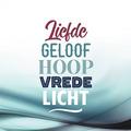 WENSKAART KERST LIEFDE GELOOF HOOP LICHT - 454112