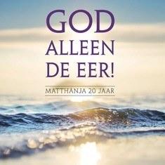 GOD ALLEEN DE EER - MATTHANJA 20 JAAR - 8713986991478