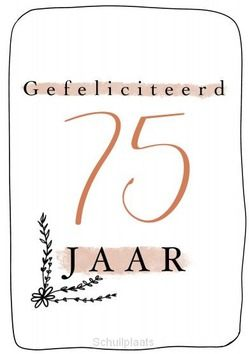 GEFELICITEERD 75 JAAR + ENV - LIGHT CREATIVE BY THALIEN - 65503123