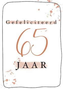 GEFELICITEERD 65 JAAR + ENV - LIGHT CREATIVE BY THALIEN - 65503121