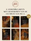 THUIS KAARTEN SET VAN 6 GESORTEERD - SELA - 65503599