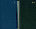 ZAKAGENDA ZWART OF BLAUW 2022 7/2 WIRE-O - 65508808