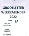 WEEKKALENDER XL 2022 GROOTLETTER - 7438239689698