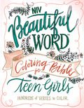 BEAUTIFUL WORD COLORING BIBLE TEEN GIRL - NIV - 9780310447221