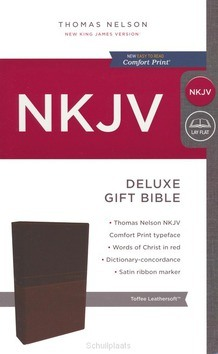NKJV DELUXE GIFT BIBLE TAN - 9780718075200