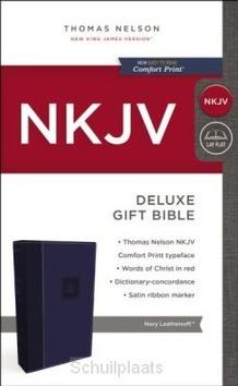 NKJV DELUXE GIFT BIBLE BLUE - 9780718075224