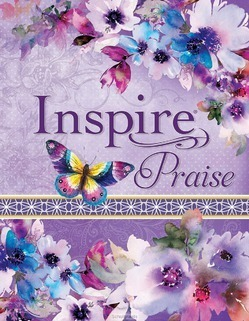 INSPIRE PRAISE BIBLE - PURPLE FLOWERS - BIBLE - NLT - 9781496429841