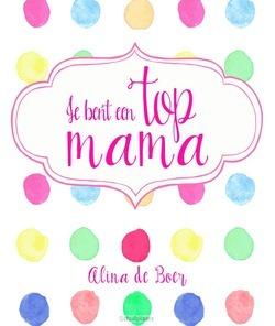 JE BENT EEN TOP MAMA - BOER, ALINE DE - 9789033817809
