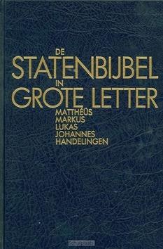 STATENBIJBEL GROTE LETTER NT1 MATTHEUS H - 9789061266983