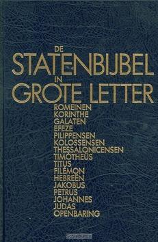 STATENBIJBEL GROTE LETTER NT2 ROMEINEN O - 9789061266990