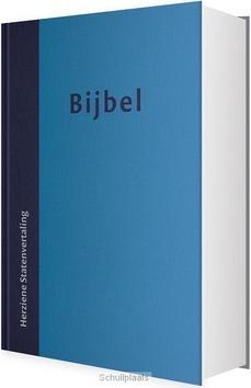 BIJBEL HSV HARDE BAND 12X18 DUOTONE BLAU - HERZIENE STATENVERTALING - 9789065394316